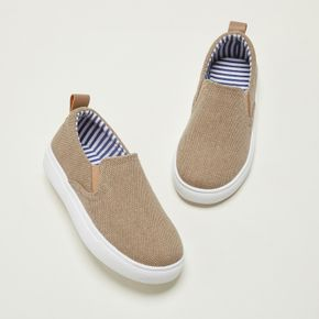 Toddler / Kid Minimalist Solid Color Slip-on Canvas Shoes