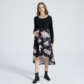 Robe Mi-Longue Col Rond Floral Type normal H