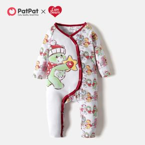 Care Bears Baby Christmas Front Buttons Graphic Jumpsuit