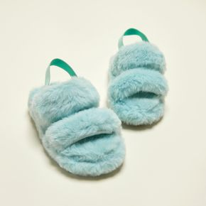 Toddler / Kid Minimalist Double Strap Fluffy Slippers