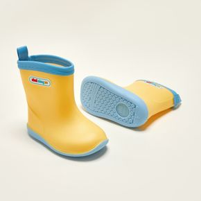 Toddler / Kid Letter Detail Yellow Rain Boots