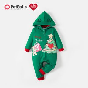 Care Bears Baby Boy/Girl 1st Christmas Tree and Gift Hooded Jumpsuit