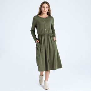 Robe Mi-Longue Col Rond Type normal H