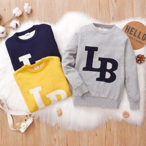 Kid Boy Letter Print Casual Knit Sweater