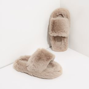 Toddler / Kid Solid Color Plush Slippers