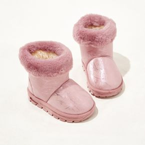 Toddler / Kid Solid Color Fleece-lining Snow Boots