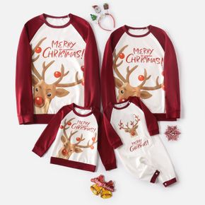 Christmas Elk and Letter Print Family Matching Long-sleeve Sweatshirts