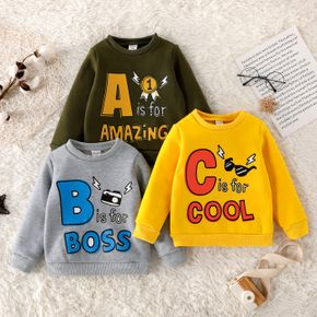 Toddler Boy Letter Print Casual Pullover Sweatshirt
