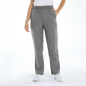 Elastic Waist Casual Pants with Pocket
