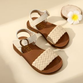 Toddler / Kid Solid Color Velcro Braided Sandals
