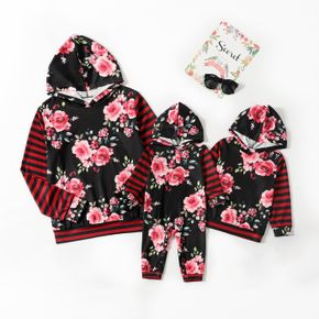 Tenues Assorties Tops Manche Longue Floral Rayures