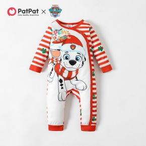 PAW Patrol Little Boy/Girl Christmas Stripe and Graphic Jumpsuit
