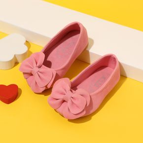 Toddler Pink Bow Decor Slip-on Shoes