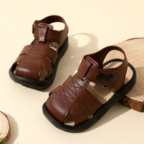 Toddler Pure Color Non-slip Snap Sandals