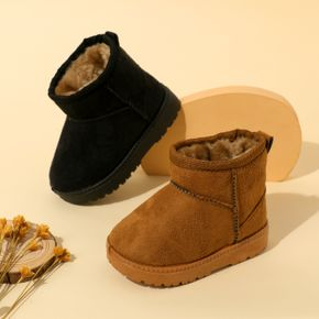 Toddler Solid Color Minimalist Warm Fleece-lining Boots