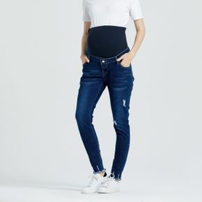 Maternity Cut and Sew Frayed Trim Jeans