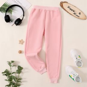 Kid Boy/Kid Girl Casual Solid Color Joggers Pants