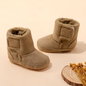 Baby / Toddler Brown Velcro Fleece-lining Boots