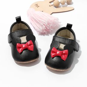 Baby / Toddler Red Bow Decor Velcro Prewalker Shoes