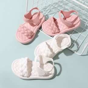 Toddler / Kid Pure Color Braided Quilted Sandals