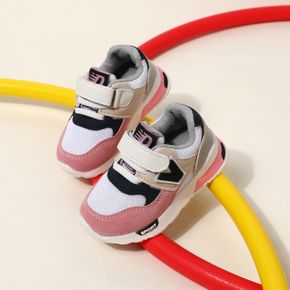 Toddler Letter Graphic Color Block Velcro Sneakers