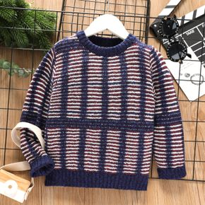 Toddler Girl/Boy Casual Striped Knit Sweater