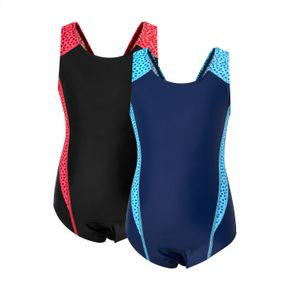 Color Contrast One-Piece Swimsuit for Kids