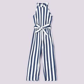 Kid Girls Stripes Wide trousers Fashionable Onesies