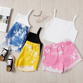 Stylish Kid Girl Tie Dye Shorts Casual Suits