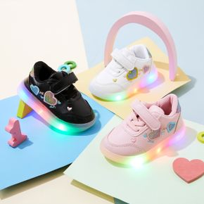 Toddler LED Love Velcro Closure Sports Shoes