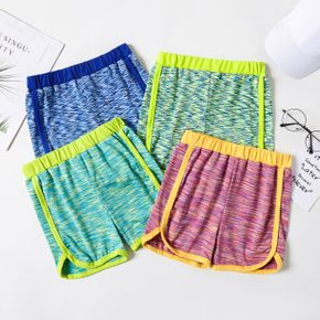 Multi Color Space Dyed Athletic Shorts for Toddlers / Kids