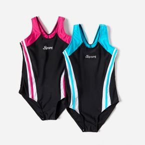 Tank One-piece Activewear Swimsuit for Toddlers and Kids