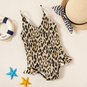 Toddler Girl Leopard Print One-piece Swimsuit