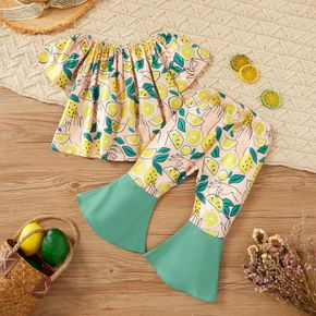 2pcs Baby Girl Short-sleeve Sweet Floral Baby's Sets