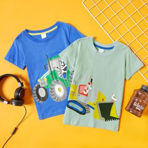 Vehicle Print Athleisure Tee for Toddlers/Kids