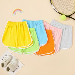 Toddler Girl Casual Solid Basic Shorts