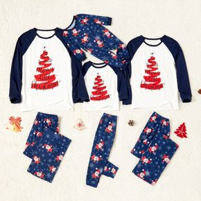 Family Matching Christmas Tree Design Letter Print Pajamas Sets(Flame resistant)