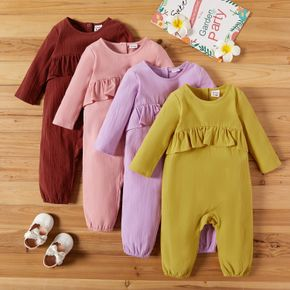 Baby Girl Solid Bloomers Jumpsuit