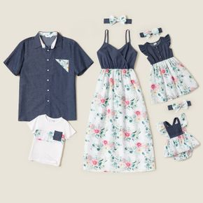 Mosaic Floral Splice Family Matching Sets