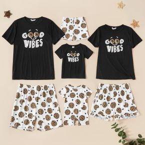 Letter Cookie Print Family Matching Pajamas Sets (Flame resistant)