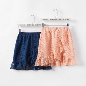 Trendy Kid Girl Floral Print Lace Skirt