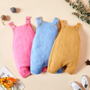 Baby Boy/Girl Knit Solid Overalls Jumpsuits