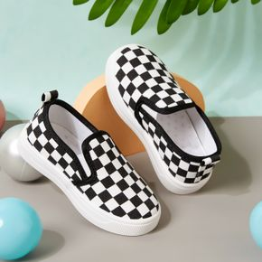 Toddler / Kid Grid Slip-on Canvas Shoes