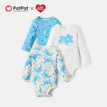 Care Bears Bedtime 100% Cotton Baby Rompers